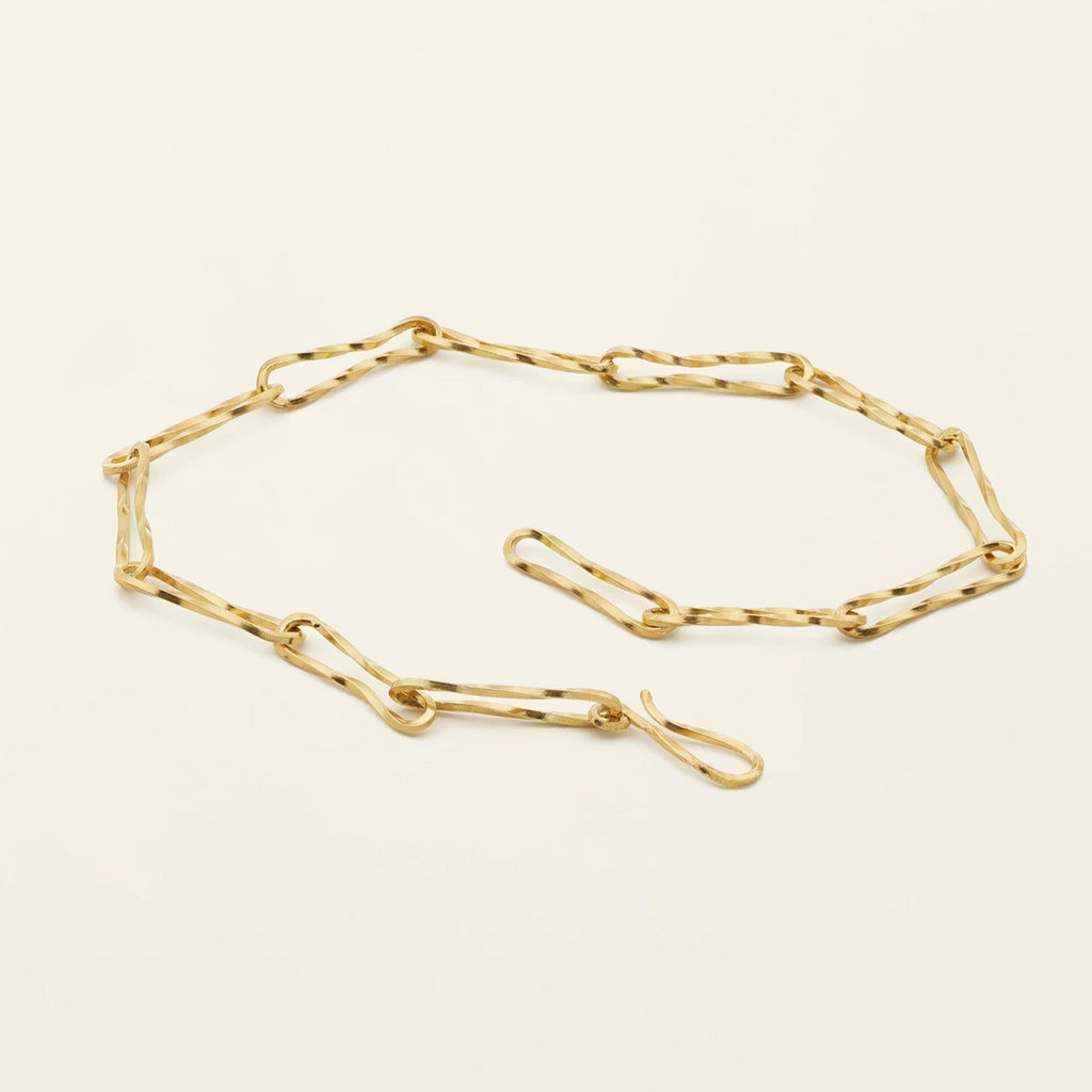 THIN FLOW BRACELET - gold plated silver