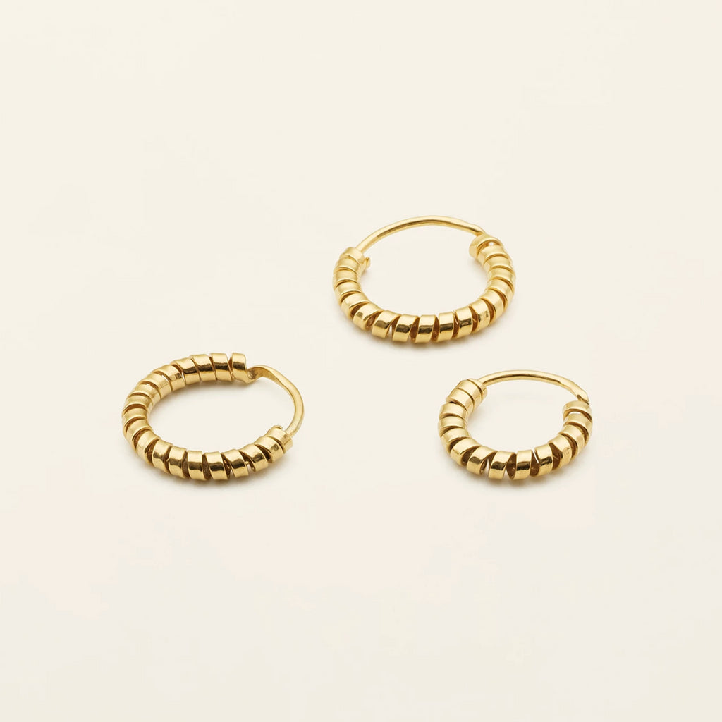 MINI SPIRAL HOOPS - gold plated silver