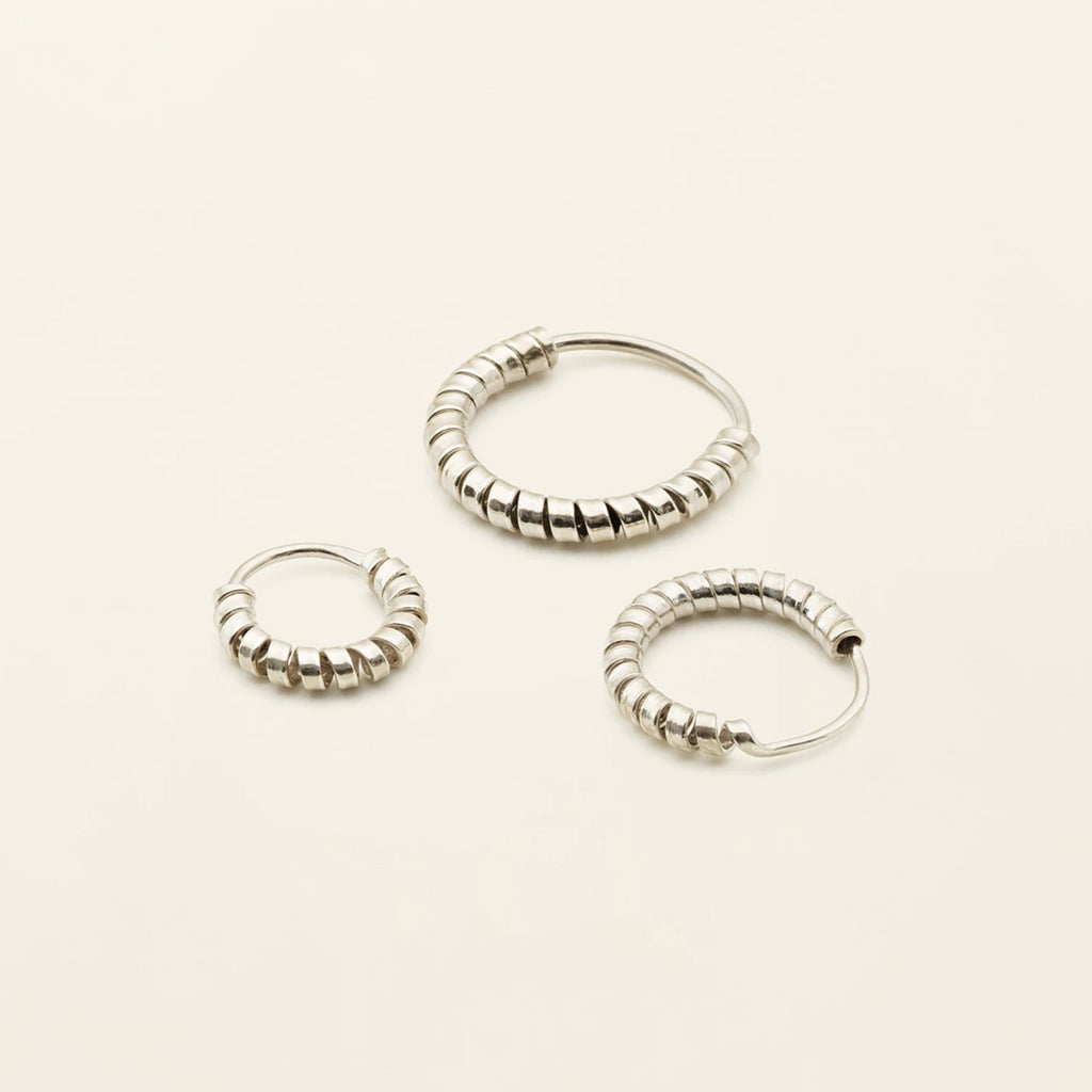 MINI SPIRAL HOOPS - silver