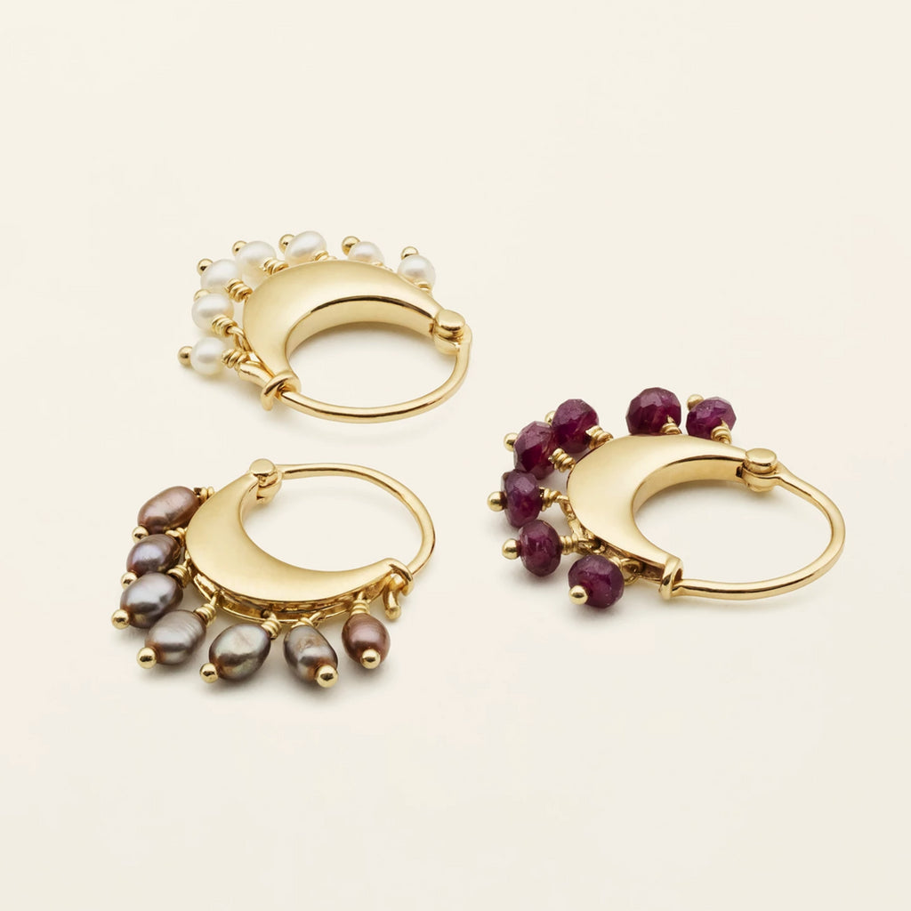 JAIPUR HOOPS - gold plated silver