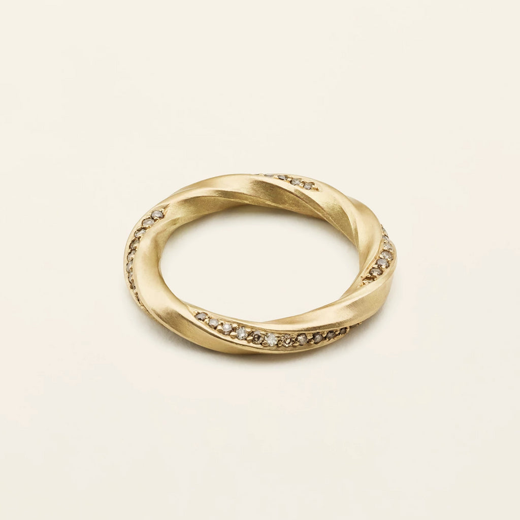 FLOW ETERNITY RING - 18 karat gold