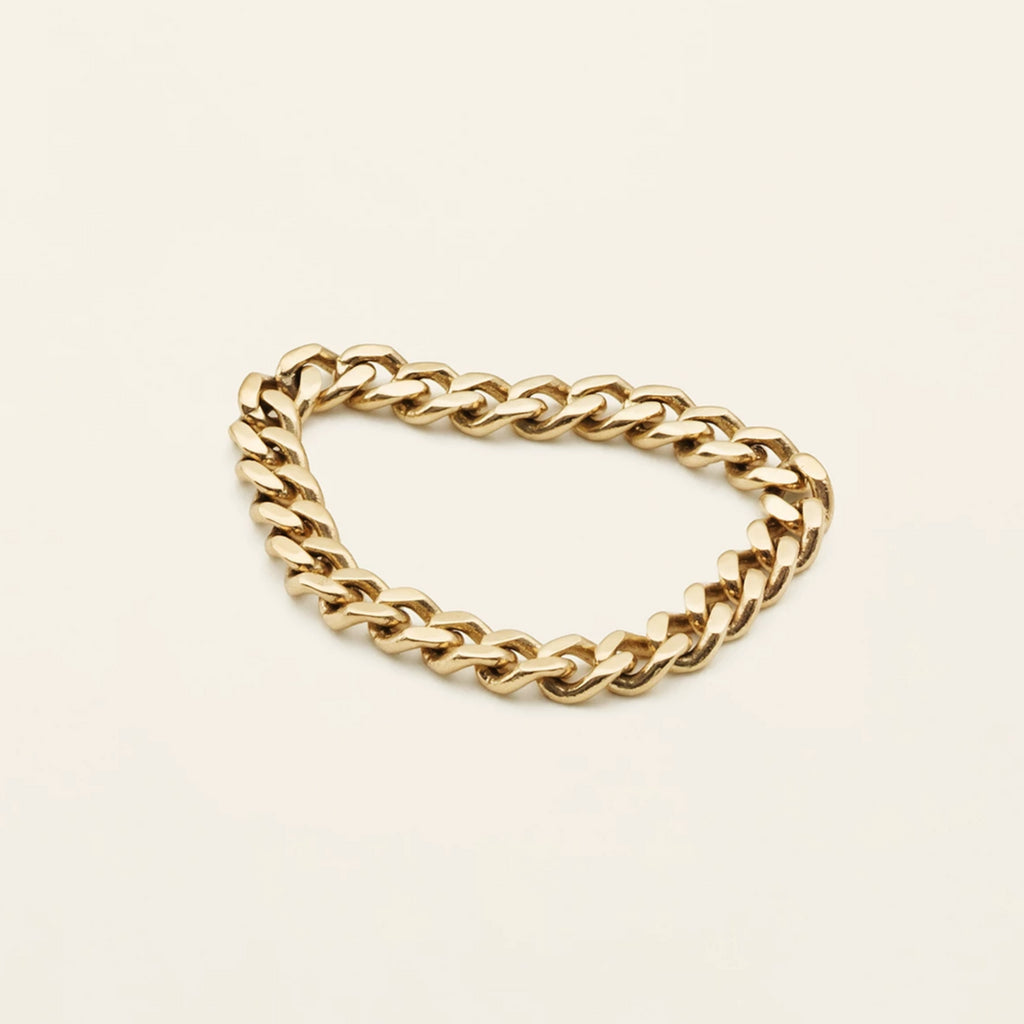 MEDIUM CHAIN RING - 18 karat gold