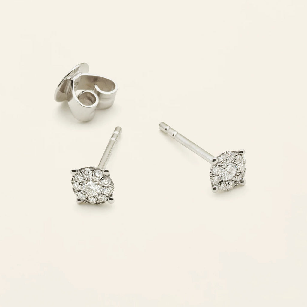 DIAMOND EARSTICK - 18 karat white gold