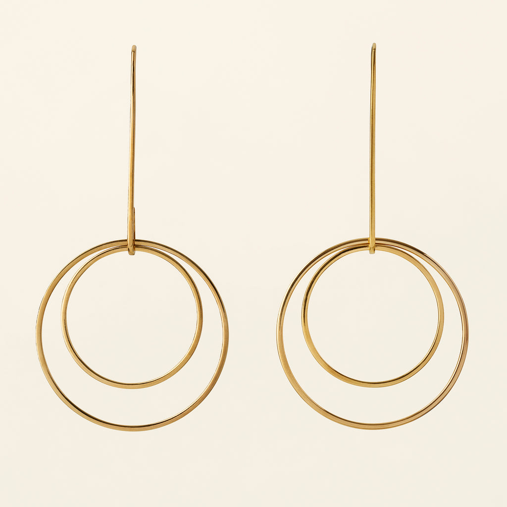 CIRKEL EARRINGS - gold plated silver