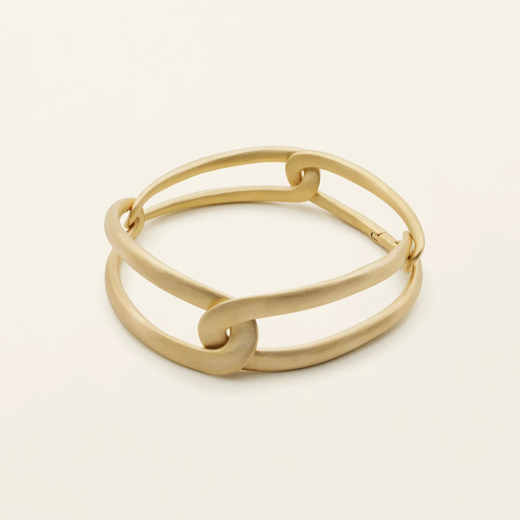 FLOW 4 LINK BRACELET - gold plated silver