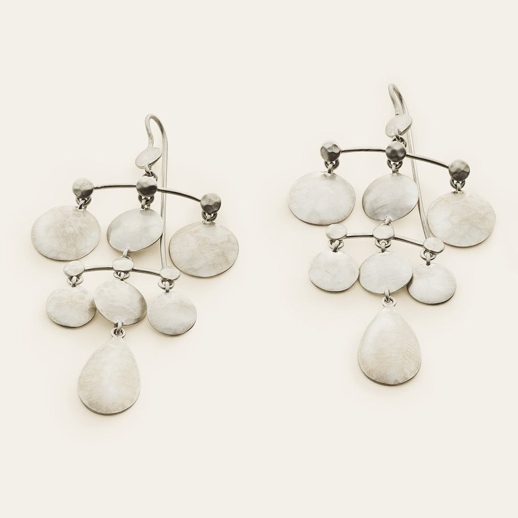 DISC EARRINGS - silver
