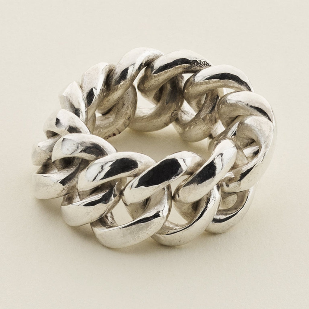 LARGE CHAIN RING - silver