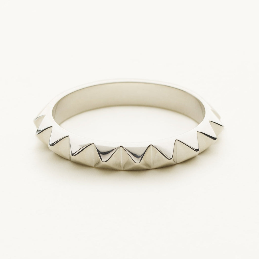 MINI STUD RING - silver