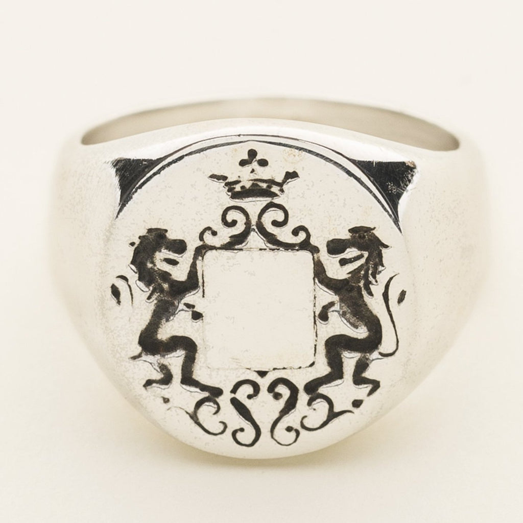 LION SIGNATURE RING - silver