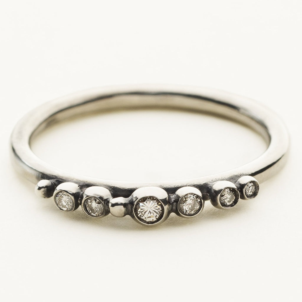 TIARA RING - silver with diamonds