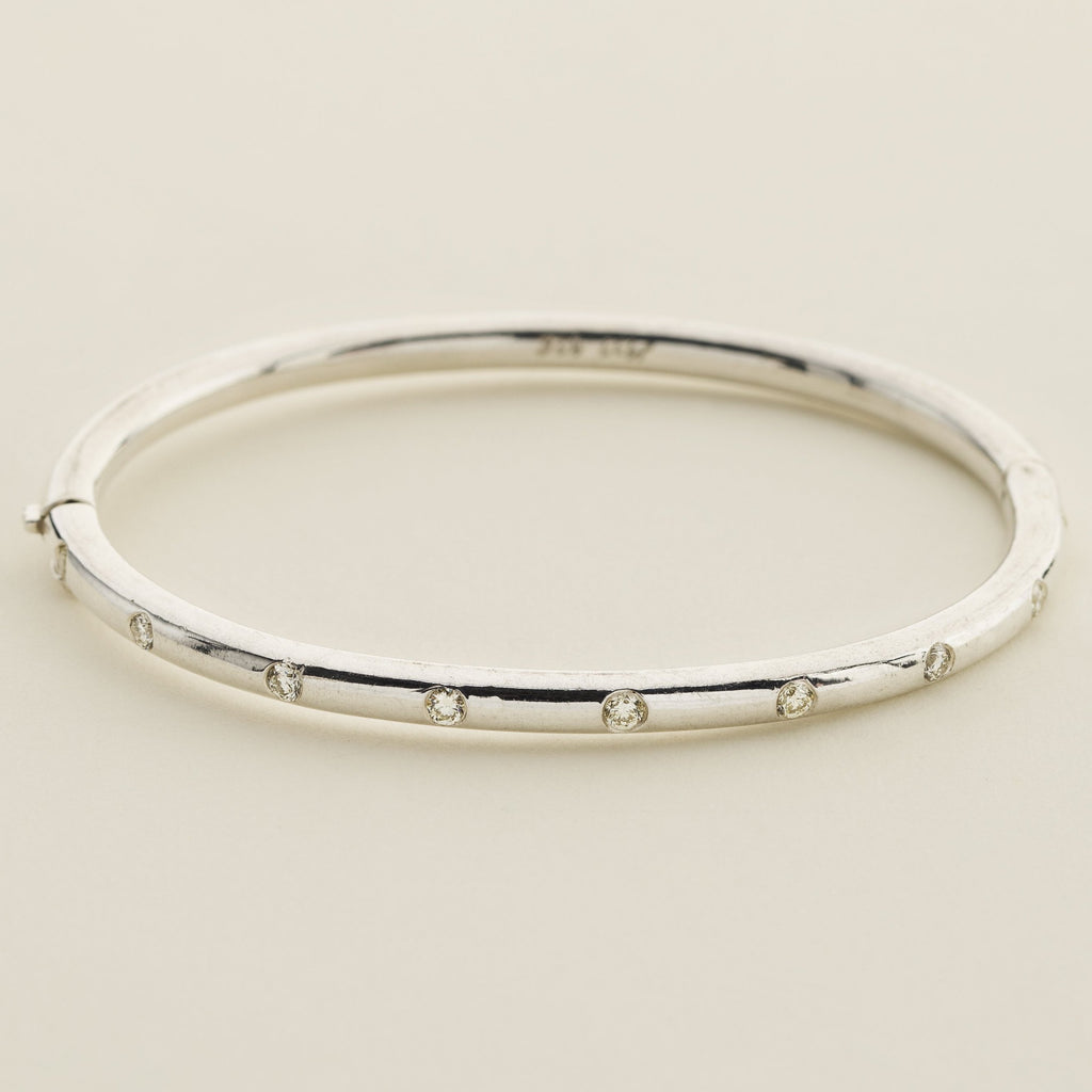 DIAMOND BANGLE - silver