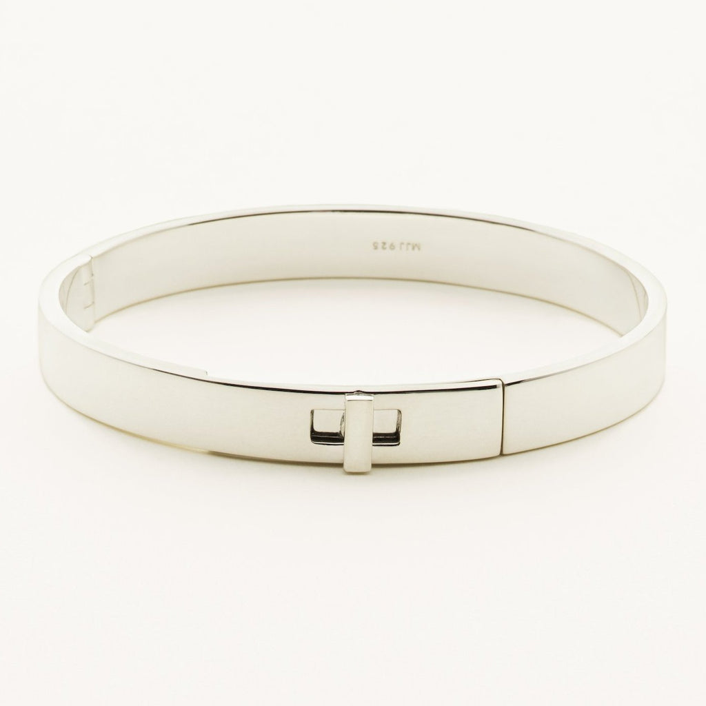 SOLID BANGLE - silver