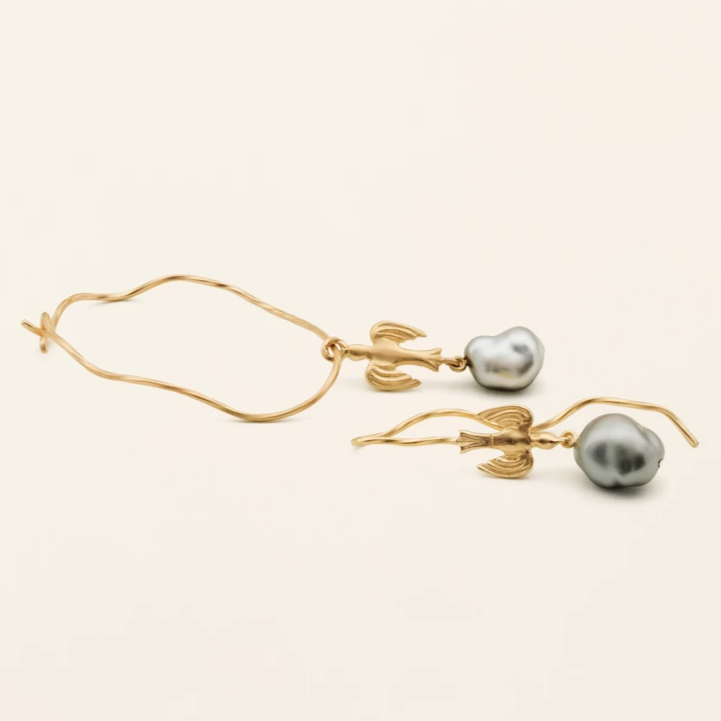 PERSIAN HOOPS - gold plated silver