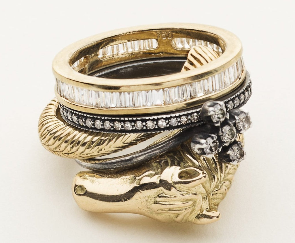HORSE RING - gold plated silver
