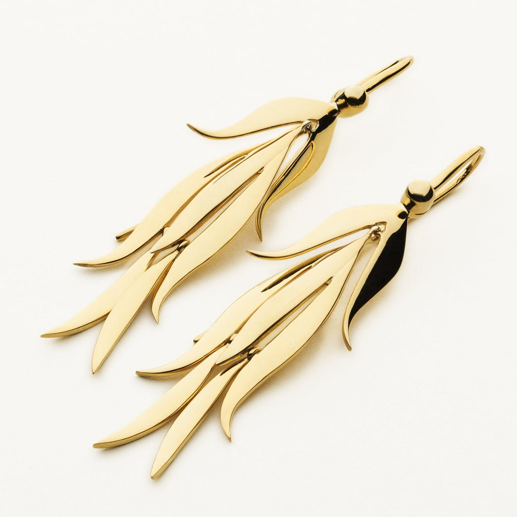 LILY EARRINGS - gold plated silver