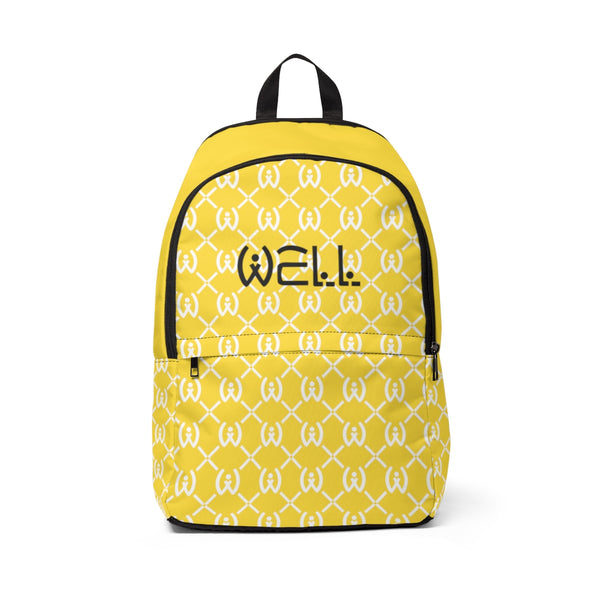 Yellow Logo Backpack - Well World Official