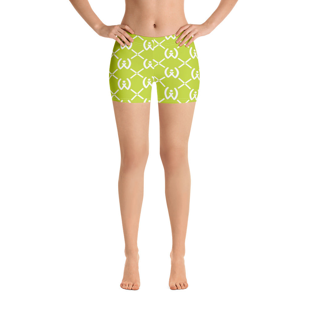 Neon Green Pattern Shorts - Well World Official