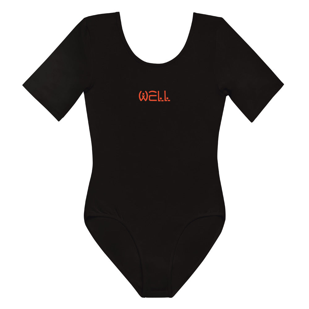 Orange Well Short Sleeve Bodysuit - Well World Official