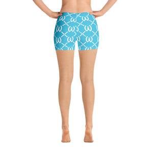Blue Pattern Shorts - Well World Official