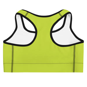 Green Logo Sports bra - Well World Official