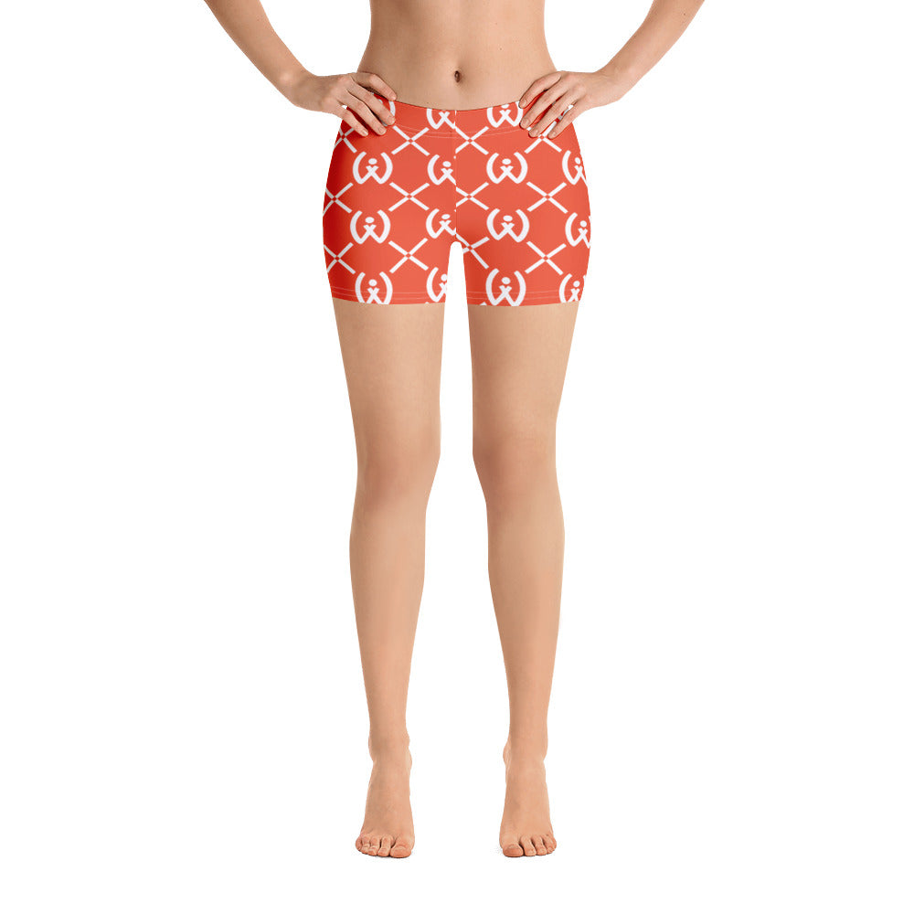 Orange Pattern Shorts - Well World Official
