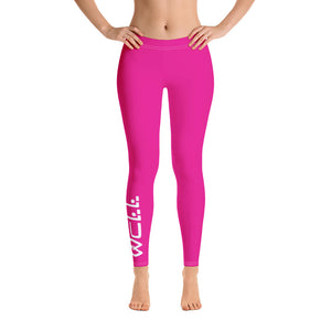 Pink Well Leggings - Well World Official