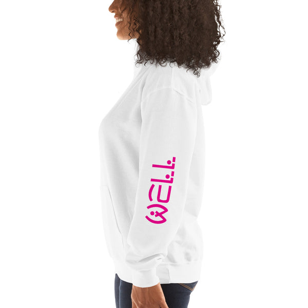 Well Pink Text Hoodie - Well World Official