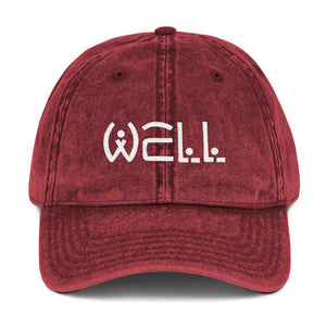 Well Logo Vintage Cap - Well World Official