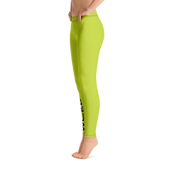 Neon Green Well Leggings - Well World Official