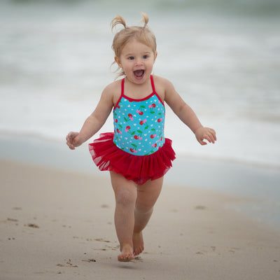 Tutu Swimsuit - Cherry - HeavenLee Swimwear