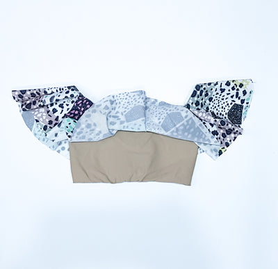 Frill Bikini Top - Animal Fun - HeavenLee Swimwear