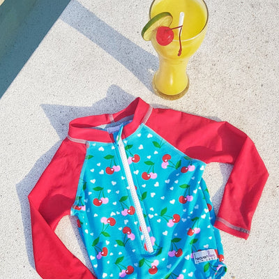 All In One Swimsuit -  Cherry - SOLD OUT