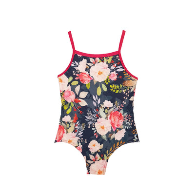 Floral Racer Swimsuit - Size 8 - HeavenLee Swimwear