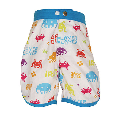 Front of Boys Boardshort - Invaders