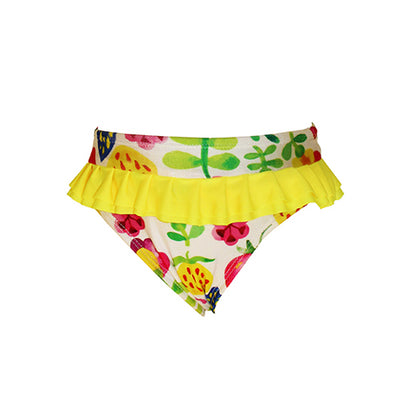 Front of Girls Bikini Bottom - Summer Garden