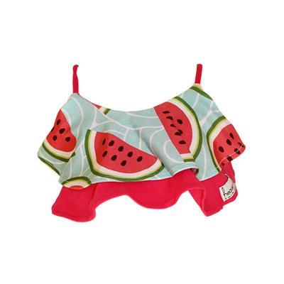 Front of Ruffle Bikini Top - Watermelon