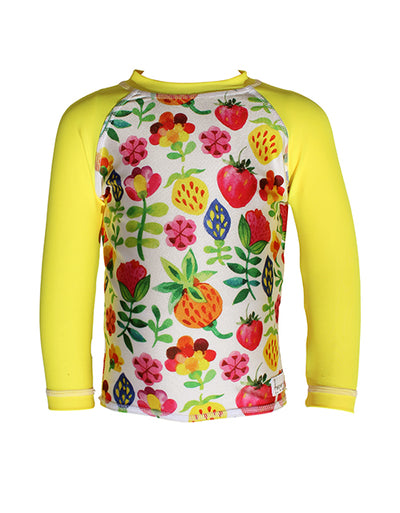 Girls LongSleeve Rash Top - Summer Garden