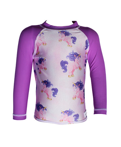 Girls LongSleeve Rash Top - Unicorn