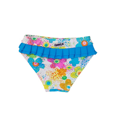Frill Knicker - Water Flowers - SIZE 1 - HeavenLee Swimwear