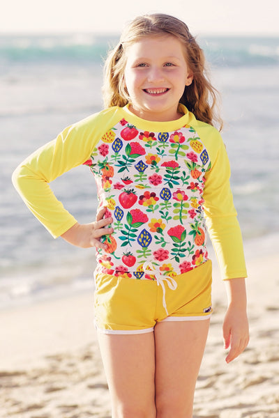 Long Sleeve Rash Top - Summer Garden