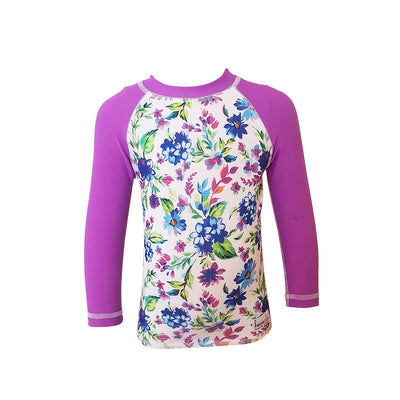 Long Sleeve Rash Top - Floral
