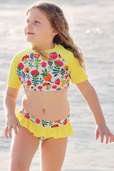Midrift Rash Top - Summer Garden - SOLD OUT