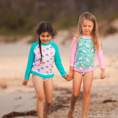 Long Sleeve Rash Top - Icecreams - HeavenLee Swimwear