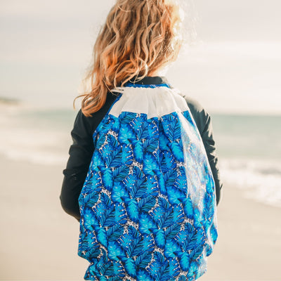 Swim Bag - Palms Blue - HeavenLee Swimwear
