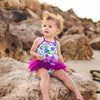 Tutu Swimsuit - Florals - HeavenLee Swimwear