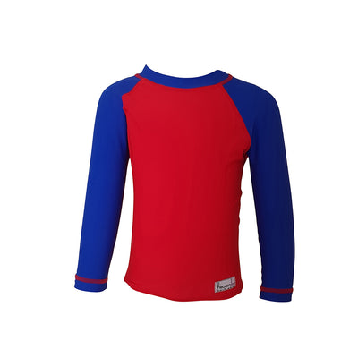 Long Sleeve Rash Top - Red - HeavenLee Swimwear