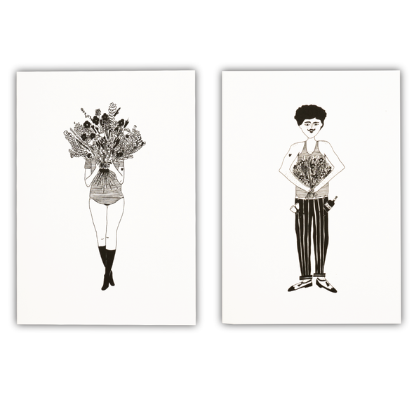notebook flower girl & flower man