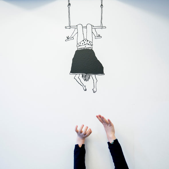 wall sticker trapeze girl