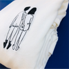 t-shirt naked couple back LARGE