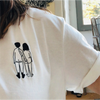 t-shirt naked couple back MEDIUM